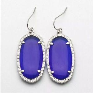 KENDRA SCOTT • Elle Drop Earrings • Cobalt/Silver